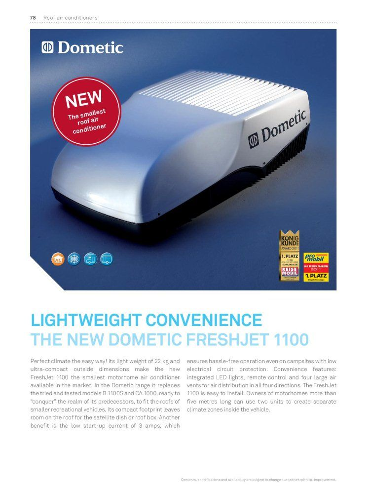 dometic 9105305735 dometic freshjet 1100 compact roof air conditioning unit for sale at. Black Bedroom Furniture Sets. Home Design Ideas