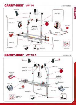 Fiamma Right Hand Upper Fixing Bracket for Carry Bike VW T5D Bike Rack 98656-245